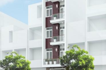 mẫu nhà phố 4.5 tầng hiện đại tại Quận Tân Bình