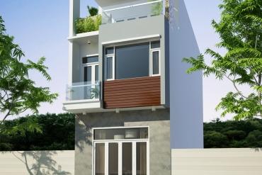 Mẫu nhà phố hiện đại 2,5 tầng tại huyện Bình Chánh TPHCM