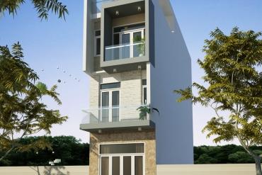 Mẫu nhà phố hiện đại 3 tầng tại Quận Tân Phú TP.HCM