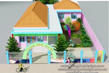 Mẫu thiết kế trường mầm non Sen Việt Bình Tân